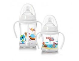 بطری شیر خوری اتومات ضد نفخ دهانه عریض بیبی لند