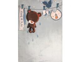 فرش خرس بندی آبی