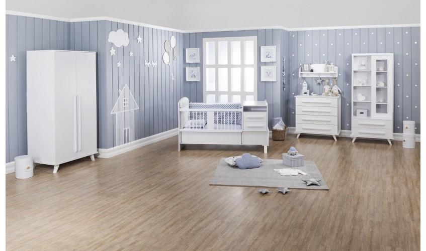 اتاق نوزاد آپادانا مدل فلورانس سفید